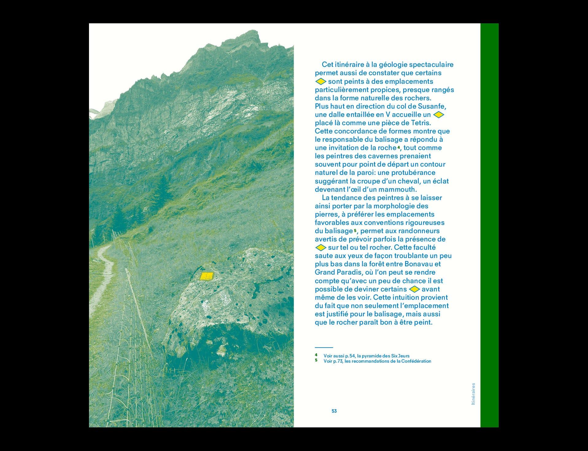 BB02 Losanges sur pierres des Alpes suisses - page 52 et 53