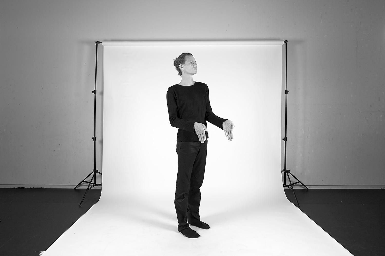 Nicolas Cantillon en répétition, Studio de danse du Grütli, photo: Nicolas Robel