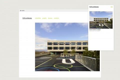 page d'accueil, version desktop + mobile
